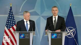 Defense Sec. Mattis speaks to NATO allies