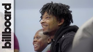 21 Savage Stops By Atlanta School to Teach Students About Financial Literacy | Billboard