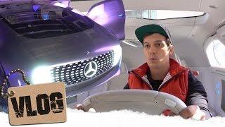 Fahren im 14-Millionen-Euro-Mercedes... (Forschungsfahrzeug Mercedes F015)