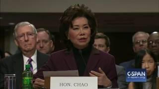 Secretary of Transportation Nominee Elaine Chao Opening Statement (C-SPAN)
