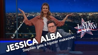 Jessica Alba Turns Stephen Into a Hipster Millennial