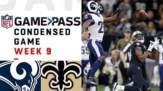Los Angeles Rams vs. New Orleans Saints   NFL Week 9 Game Pass Condensed Game