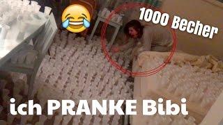 Ich PRANKE Bibi / 1000 Becher mit Wasser 😳😂   Julienco
