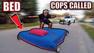 BED SURFING IN STREET **COPS CALLED**