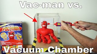 What Happens To Vac-man In a Vacuum Chamber? (Stretch Armstrong