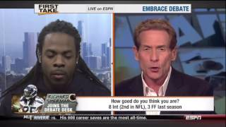 Richard Sherman vs. Skip Bayless on ESPN 1st Take