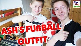 Fußball Styling! Ash & Max zeigen ihr Fussball Outfit - TipTapTube