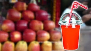 Apple Fruit Juice Near Thane Station |  MUMBAI STREET FOOD | 4K VIDEO |