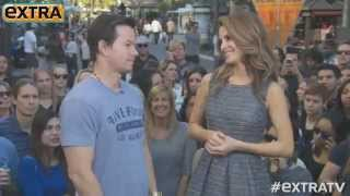 Mark Wahlberg yells at a guy during interview (EXCLUSIVE)
