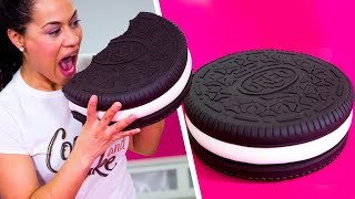 How To Make A GIANT OREO Out Of Chocolate CAKE & BUTTERCREAM | Yolanda Gampp | How To Cake It