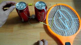 Electric Fly Swatter + Coke can = Franklin