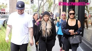 Kim Kardashian, Blac Chyna & Rob Kardashian Have Lunch Together In Beverly Hills 4.26.16
