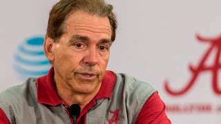 Watch Nick Saban talk conditioning, running backs, more