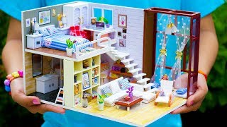 5 DIY Miniature Doll House Rooms *NEW*