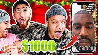 i Paid Celebrities $1000 To Sing Christmas Carols To My Friends!! (YOU WON