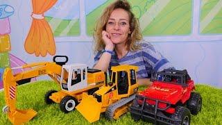 #Spielzeugkindergarten: Nicole spielt mit Spielzeugautos – Spielen und Lernen mit #KinderCartoons