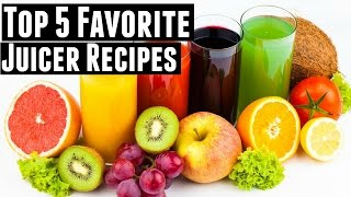 My 5 favorite juicer recipes for ENERGY | Green Juice, Fruit Juice, & Vegetable Juice
