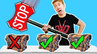 5 Fortnite Battle Royale Weapons in REAL LIFE vs Ninja Mystery Box Challenge!