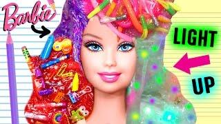 WEIRD DIY SLIME YOU MUST TRY | Barbie Hair Slime, Light Up Slime, School Supplies Slime, WORM Slime!