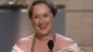 "Meryl Streep winning Emmy for ""Angels in America"""