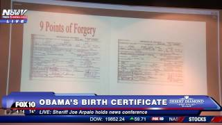 WOW: Sheriff Joe Arpaio Releases New Information on President Obama