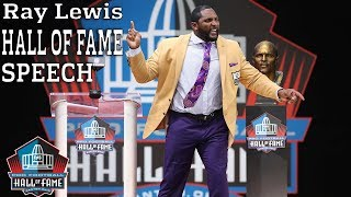 Ray Lewis FULL Hall of Fame Speech | 2018 Pro Football Hall of Fame | NFL