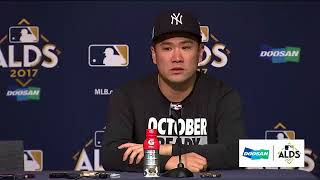 Masahiro Tanaka Postgame Interview | Yankees vs Indians Game 3 ALDS