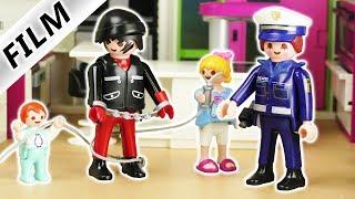 Playmobil Film deutsch   SPIELZEUG DIEB überwältigt von Hannah & Emma   Polizei fasst Einbrecher