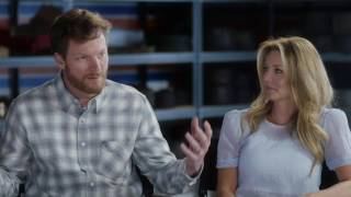 Dale Earnhardt Jr. with Amy interview