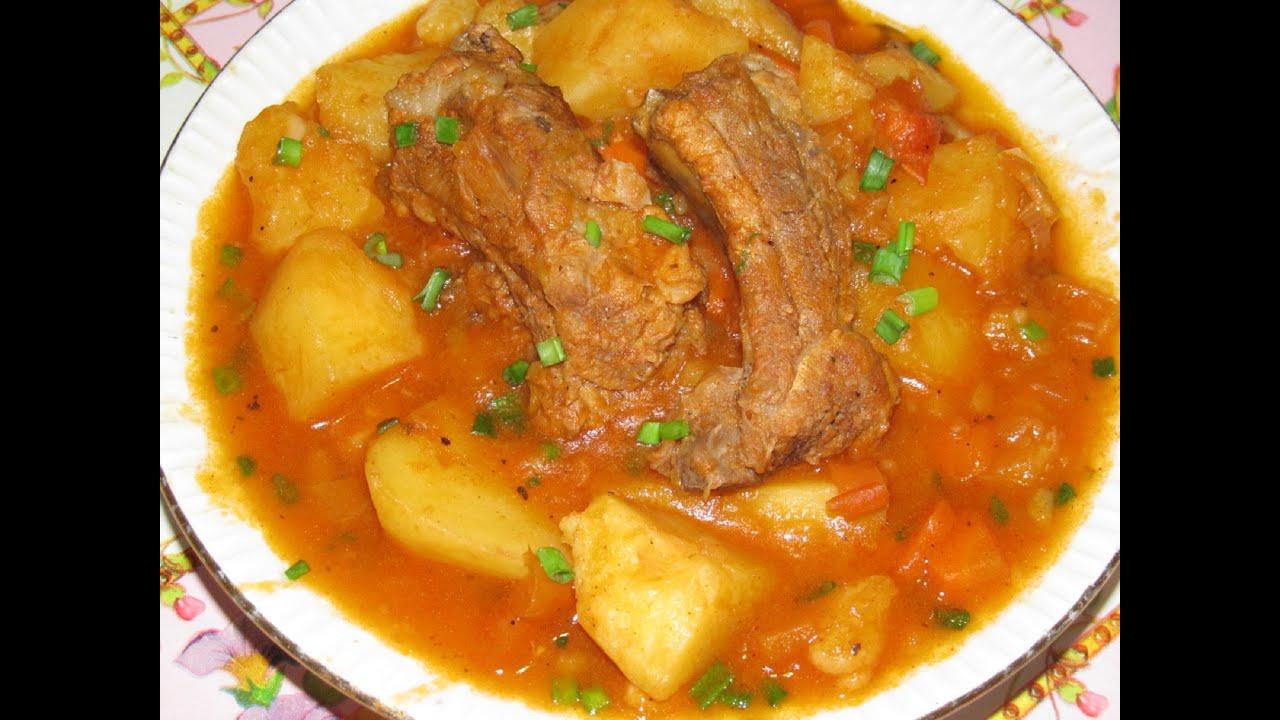 Говядина тушеная с картошкой в мультиварке рецепт с пошагово