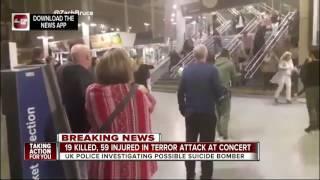 Explosion at Ariana Grande concert kills 19