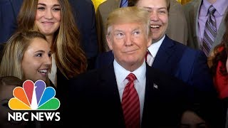 Trump Rolls His Eyes at Sessions Resignation Question | NBC News