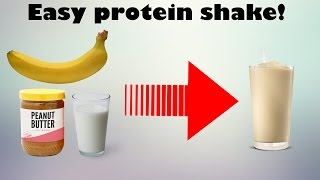 Make a protein shake without protein powder!? (Simple)