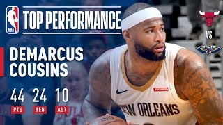 DeMarcus Cousins Gets BIG Triple-Double (44/24/10) in 2OT Victory | January 22, 2018