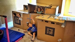 Epic Box Fort.....It Has Electricity!