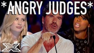 When X Factor Judges Get ANGRY! | X Factor Global