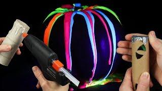 Halloween Dekoration Ideen mit Kürbis Kerzen und Grusel
