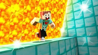RUN FROM A SPEEDING LAVA WALL IN MINECRAFT! (Super Lava Run)