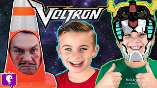 VOLTRON BEATS UP CONE HEAD! Funny SKIT, Surprise Toys+Reviews Family Fun HobbyKidsTV
