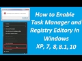 How to Enable Task Manager and Registry ...mp3