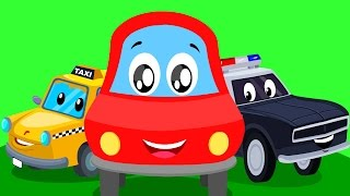 Little red car | street vehicle song | Learn street vehicles with Little red car