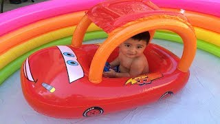 Disney Cars Toys Lightning McQueen  Thomas n Friends Trains Percy in the swimming pool