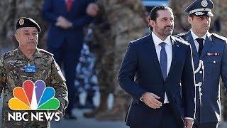 Lebanon Prime Minister Saad Hariri Seen At Parade After Mysterious Resignation   NBC News