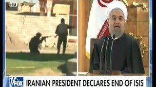 Iranian President Declares ISIS HAS BEEN DESTROYED! During State TV Broadcast!