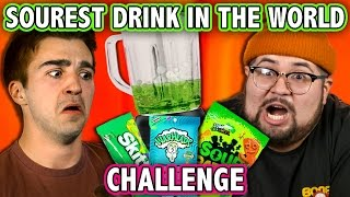SOUREST DRINK IN THE WORLD CHALLENGE! (ft. React Cast)   Challenge Chalice