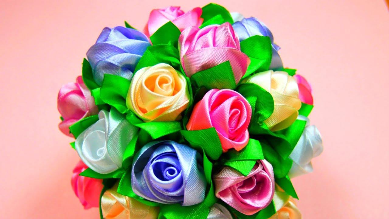 Букеты из роз своими руками мастер класс