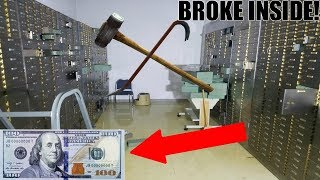 (BUSTING OPEN LOCKED SAFES) MONEY INSIDE! Abandoned Bank With Money Still Inside!