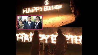 Abhishek and Aishwarya celebrates Amitabh Bachchan's grand birthday in Maldives