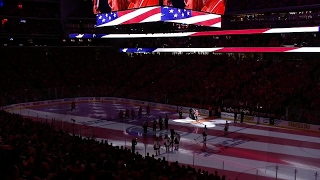 Gotta Hear It: Rogers Place sings American anthem after microphone breaks