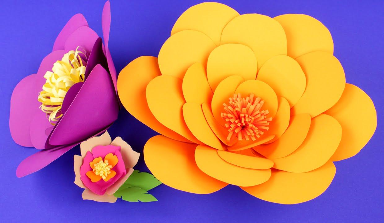 Объемный цветы из бумаги